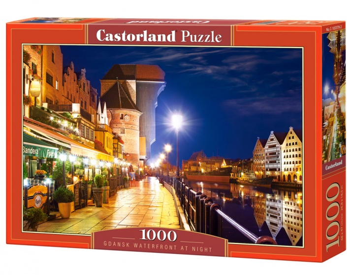 Castorland legpuzzel Gdansk Waterfront at Night 1000 stukjes