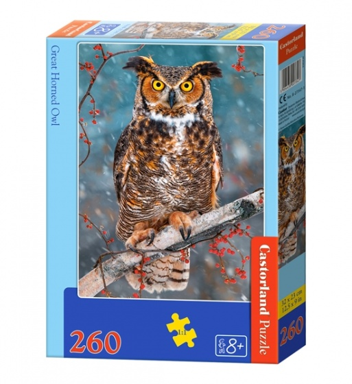 Castorland legpuzzel Great Horned Owl 260 stukjes