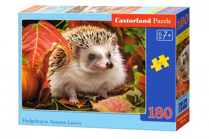 Castorland legpuzzel Hedgehog in autumn leaves 180 stukjes