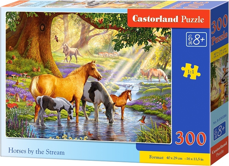 Castorland legpuzzel Horses by the stream 300 stukjes