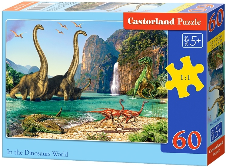 Castorland legpuzzel In the Dinosaurus World 60 stukjes