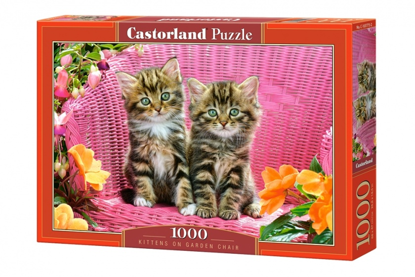 Castorland legpuzzel Kittens on Garden Chair 1000 stukjes