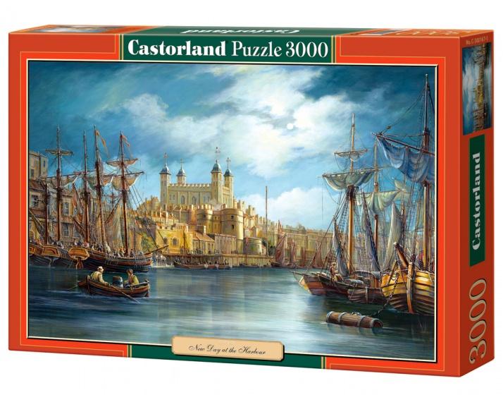 Castorland legpuzzel New Day at the Harbour 3000 stukjes