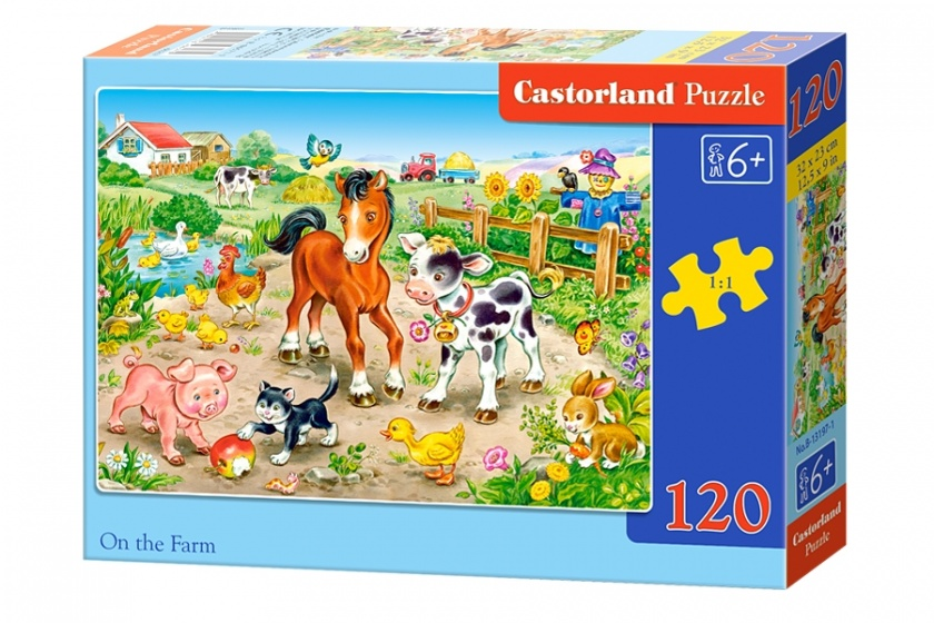 Castorland legpuzzel On the Farm 120 stukjes