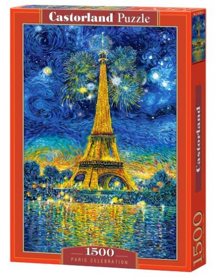 Castorland legpuzzel Paris Celebration blauw 1500 stukjes
