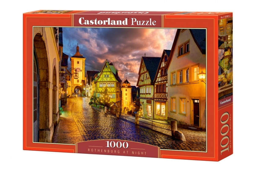 Castorland legpuzzel Rothenburg at Night 1000 stukjes