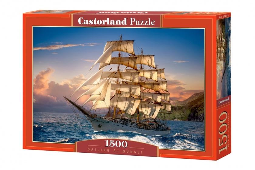 Castorland legpuzzel Sailing at Sunset 1500 stukjes