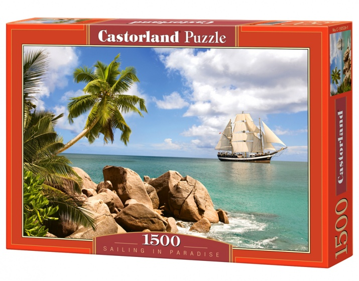 Castorland legpuzzel Sailing in Paradise 1500 stukjes