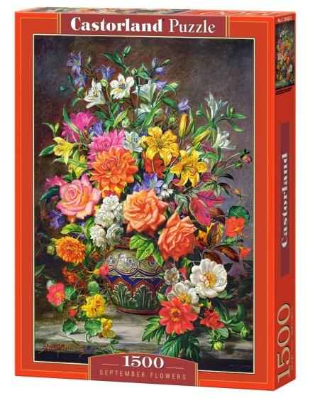 Castorland legpuzzel September Flowers 1500 stukjes