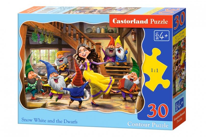 Castorland legpuzzel Sneeuwwitje en de zeven Dwergen 30 stukjes