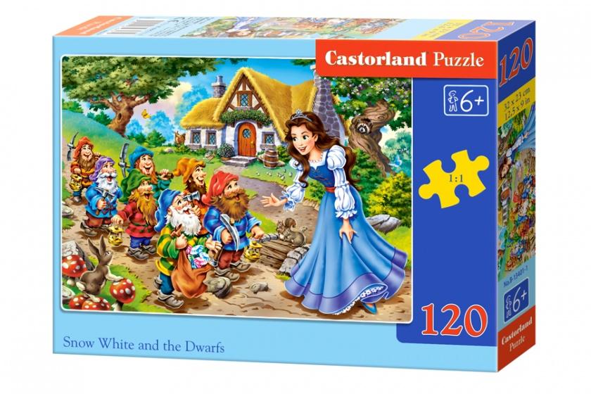 Castorland legpuzzel Snow white and the seven dwarfs 120 stukjes