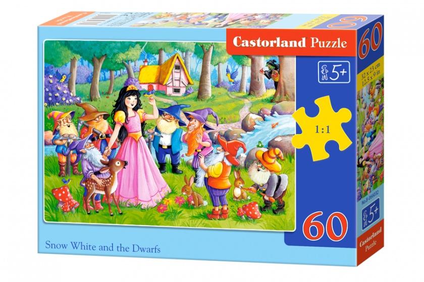 Castorland legpuzzel Snow White and the seven dwarfs 60 stukjes