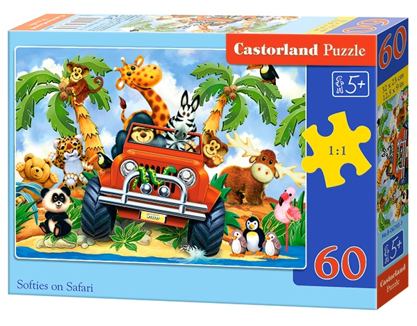 Castorland legpuzzel Softies on Safari 60 stukjes