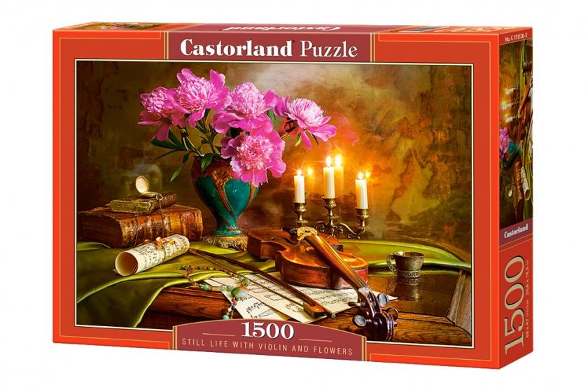 Castorland legpuzzel Still Life, Violin and Flowers 1500 stukjes