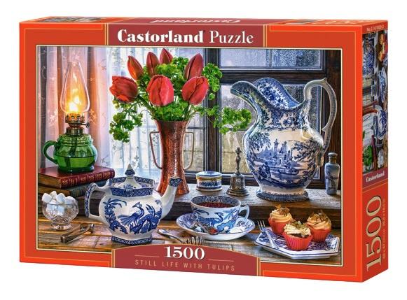 Castorland legpuzzel Still Life with Tulips 1500 stukjes