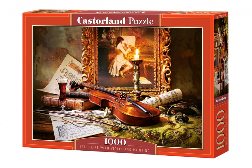 Castorland legpuzzel Still life with violin and painting 1000 stukjes
