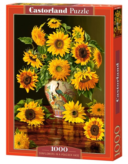Castorland legpuzzel Sunflowers in a Peacock Vase 1000 stukjes