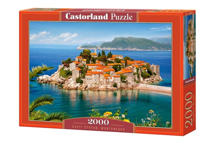 Castorland legpuzzel Sveti Stefan, Montenegro 2000 stukjes