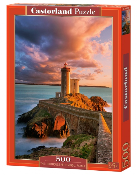 Castorland legpuzzel the lighthouse, Petit minou, France 500 stukjes