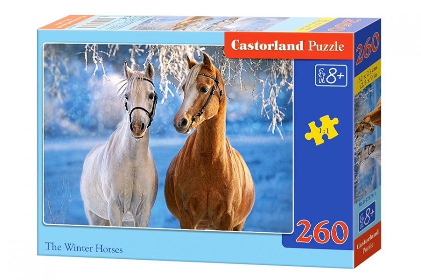 Castorland legpuzzel The Winter Horses 260 stukjes