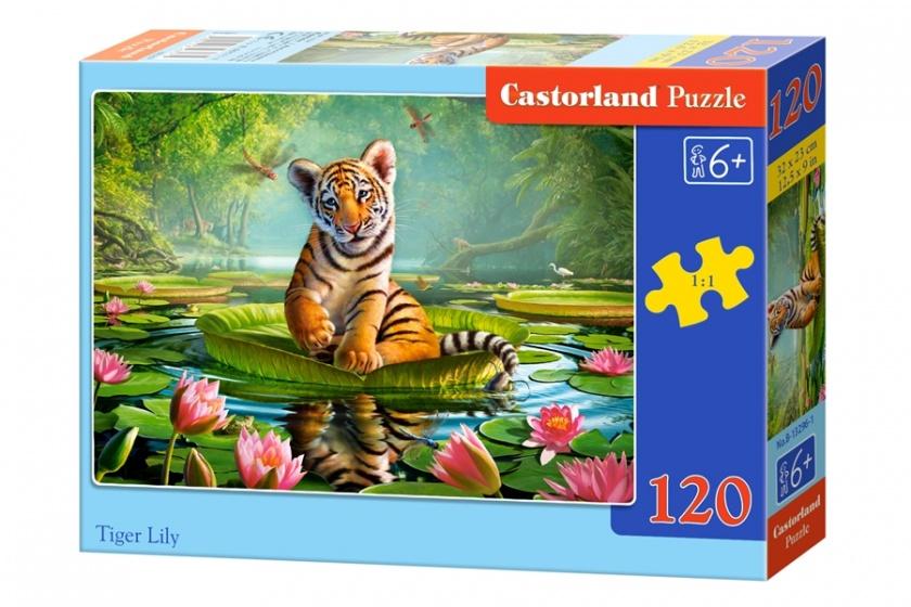 Castorland legpuzzel Tiger Lily 120 stukjes