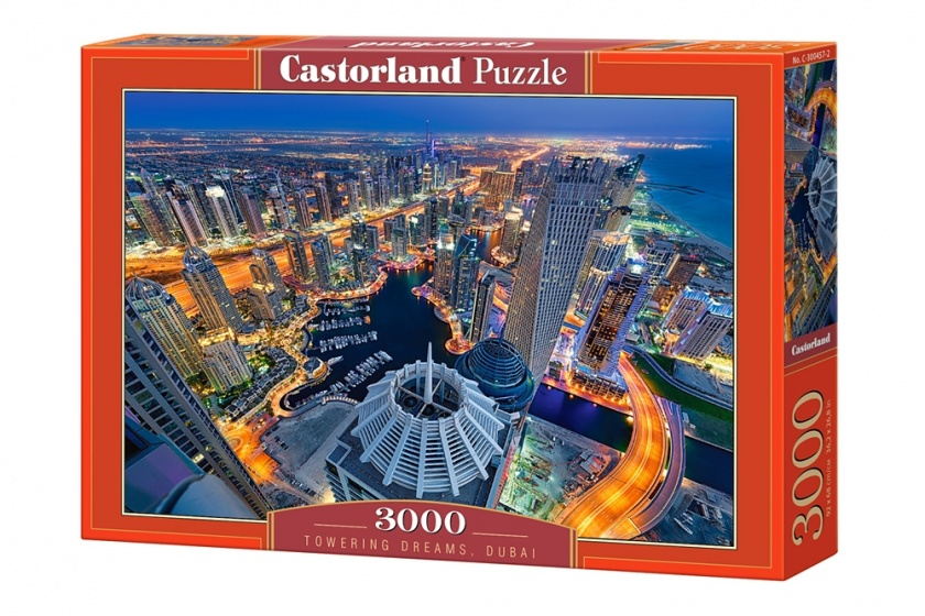 castorland jigsaw puzzle towering dreams dubai 3000 pieces internet toys. Black Bedroom Furniture Sets. Home Design Ideas