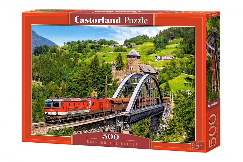 Castorland legpuzzel Train on the bridge 500 stukjes