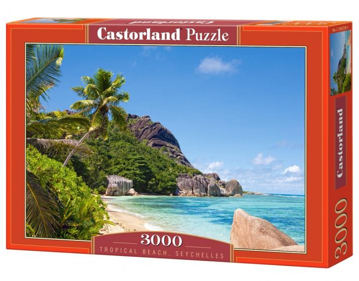 Castorland legpuzzel Tropical Beach, Seychelles 3000 stukjes