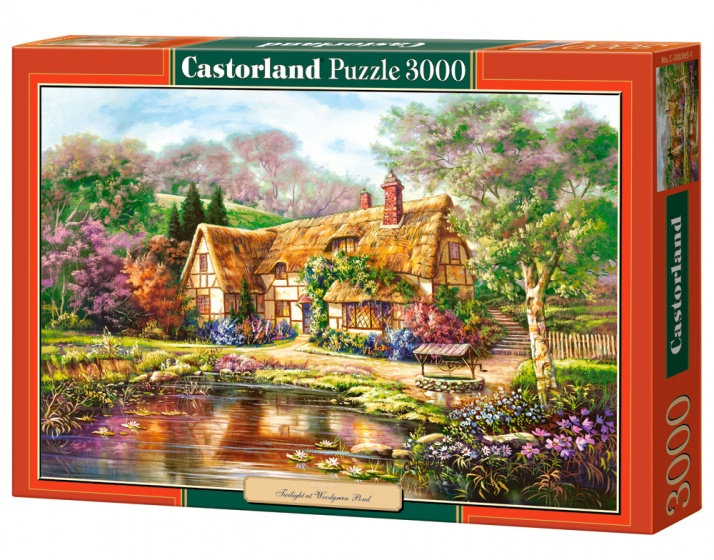 Castorland legpuzzel Twilight at Woodgreen Pond 3000 stukjes
