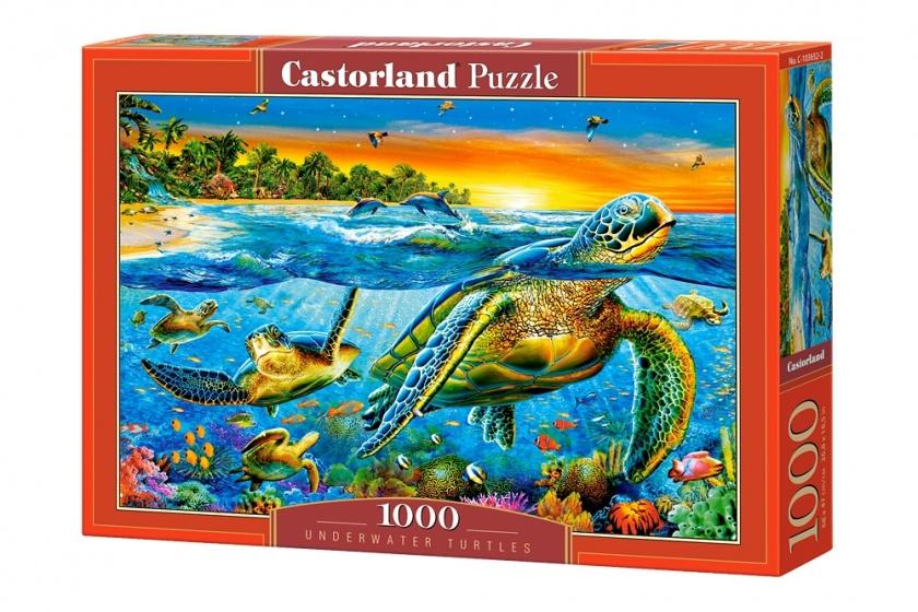 Castorland legpuzzel Underwater Turtles 1000 stukjes
