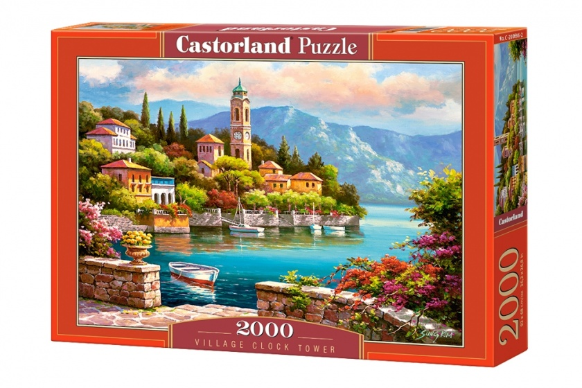 Castorland legpuzzel Village Clock Tower 2000 stukjes