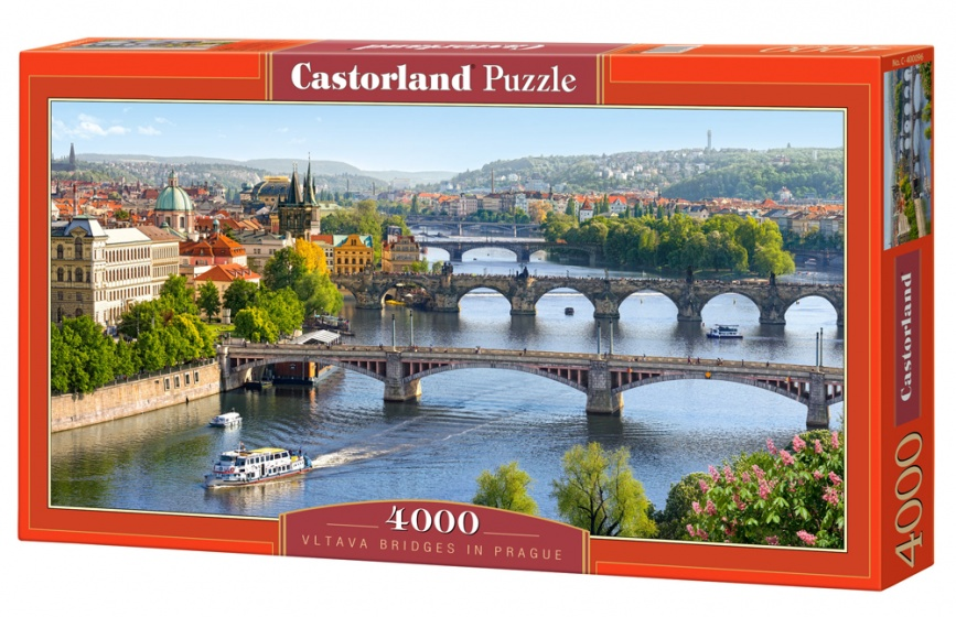 Castorland legpuzzel Vltava Bridges in Prague 4000 stukjes