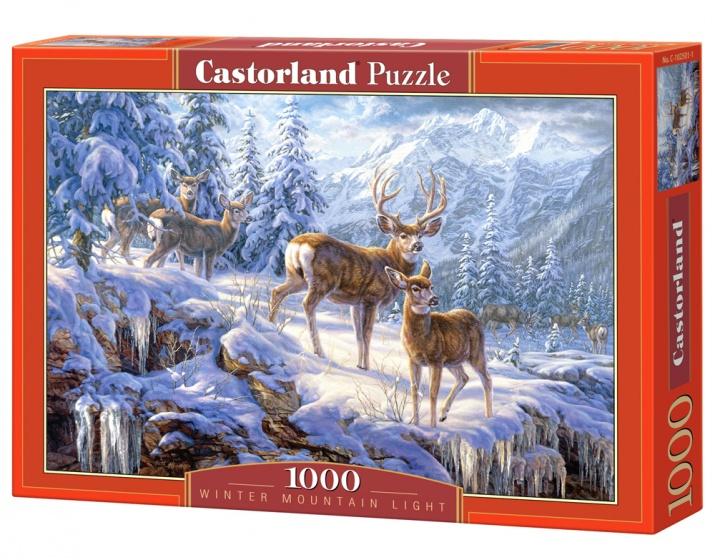 Castorland legpuzzel Winter Mountain 1000 stukjes