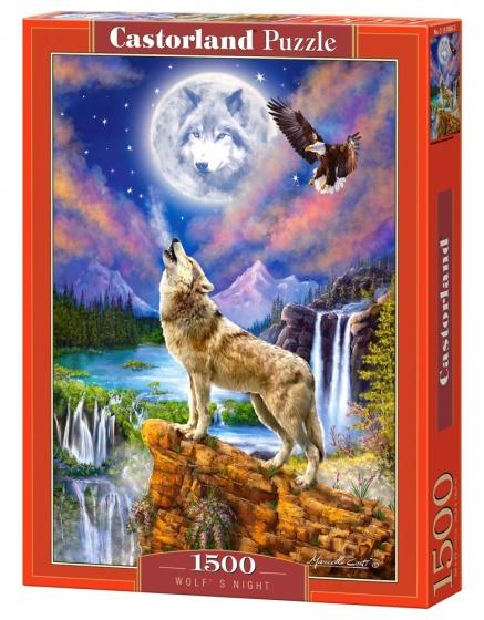 Castorland legpuzzel Wolf's Night 1500 stukjes