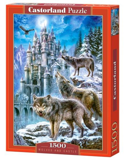 Castorland legpuzzel Wolves and Castle 1500 stukjes