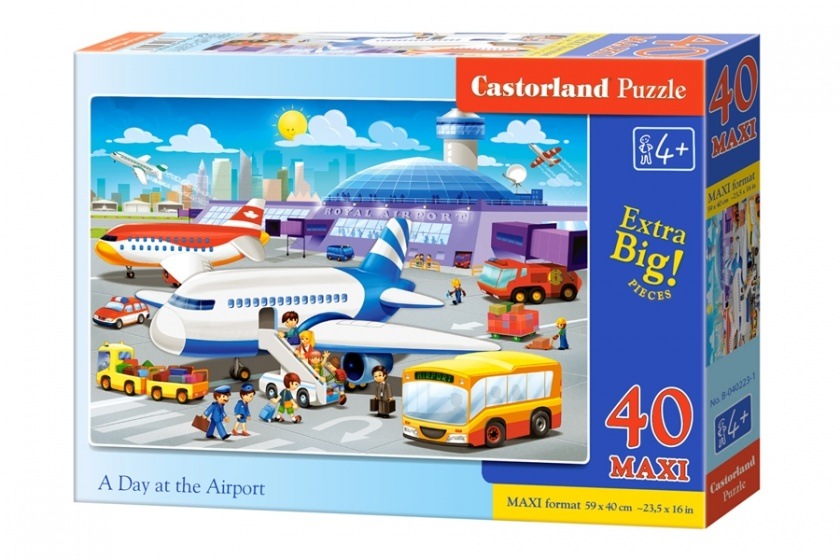 Castorland vloerpuzzel A Day at the Airport 40 stukjes Maxi