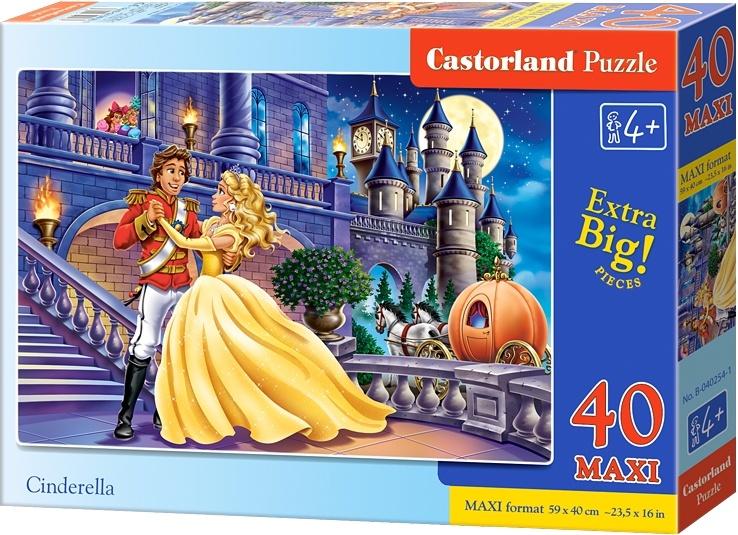 Castorland vloerpuzzel Cinderella Maxi 40 stukjes