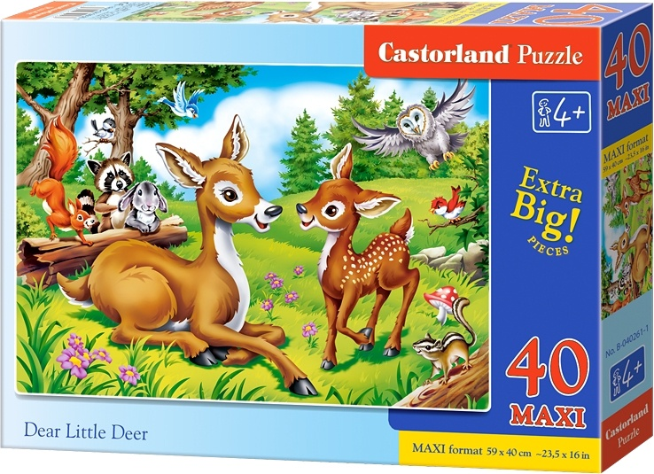 Castorland vloerpuzzel Dear little deer 40 stukjes maxi