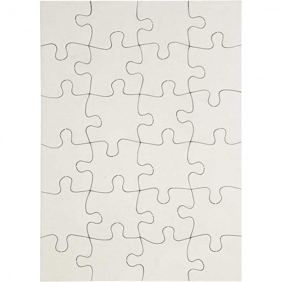 Creotime puzzel TeACH Me 15 x 21 cm karton wit 16 stuks