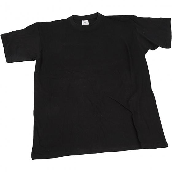 Creotime t shirt junior 42 cm katoen zwart maat 140