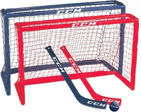 CCM mini hockey set 81 x 53 x 30 cm junior rood/blauw kopen