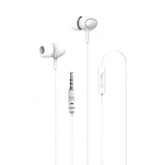 Celly in ear oordopjes met 3.5 mm jack aansluiting wit kopen