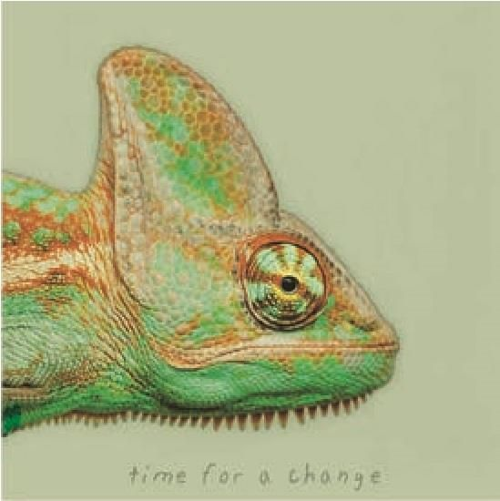 Chic.Mic canvas schilderij 20 x 20 x 4 cm Chameleon