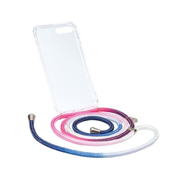Chic.Mic telefoonkoord+hoesje Axento Iphone X/XS blauw/roze