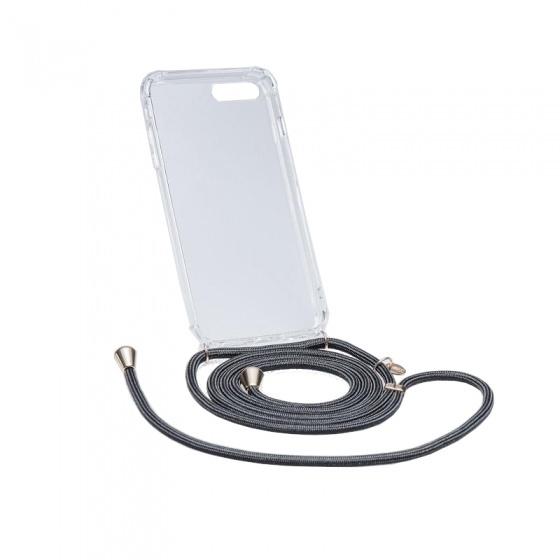 Chic.Mic telefoonkoord+hoesje Axento Iphone 7/8 zwart
