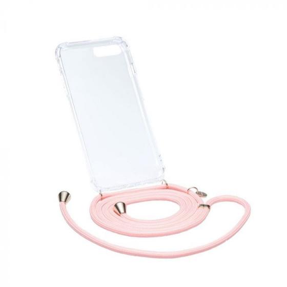Chic.Mic telefoonkoord+hoesje Axento Samsung S8 roze