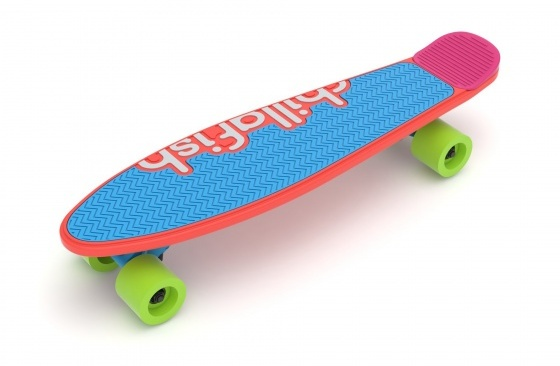 Chillafish skateboard Skatie junior 62 cm rood