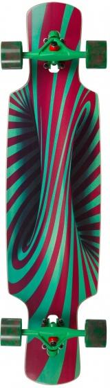 Choke skateboard trick lollipop pro 79 cm rood/groen