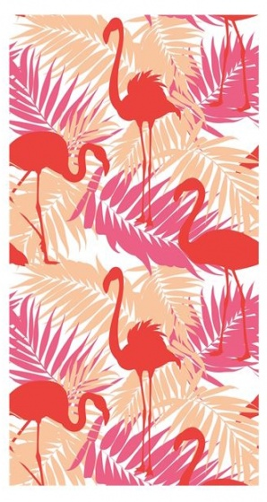 Clarysse strandlaken flamingo 90 x 170 cm kopen