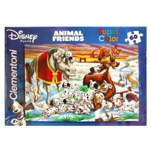 Clementoni Animal Friends Puzzel 101 Dalmatiërs 60 Stukjes